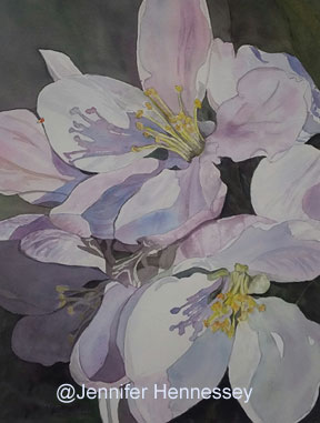 Jennifer Hennessey - Cherry Blossoms, 1st Place by Springfield Art Guild (SAG), June 2018